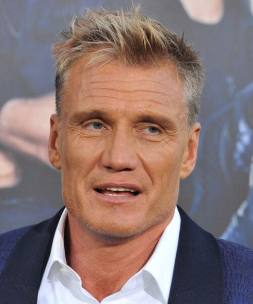dolph lundgren mens hairstyles for thin hair