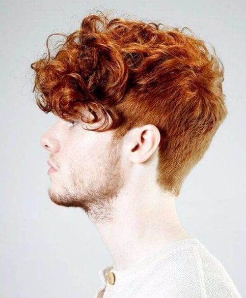 fiery short curly hairstyles for men