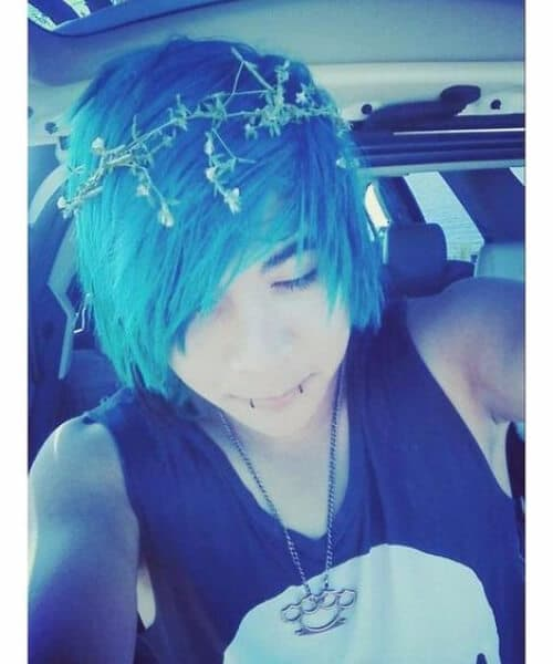 flower crown emo hairstyles for guys
