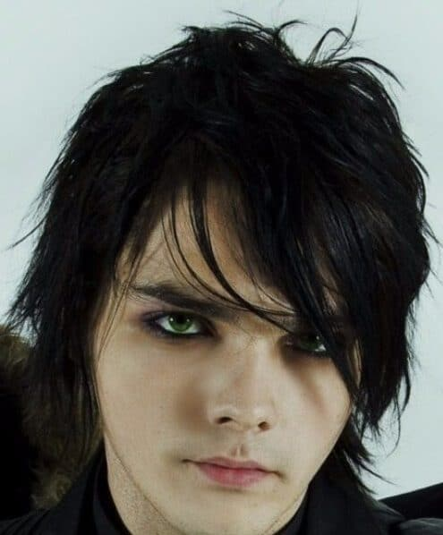 gerard way my chemical romance emo hairstyles for guys
