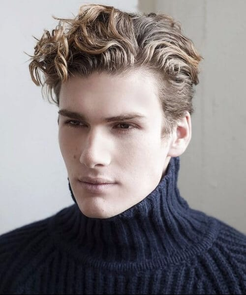 ivy league wavy short curly hairstyles for men