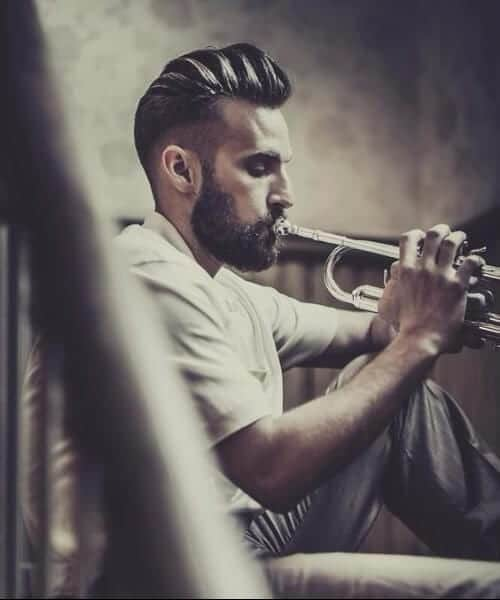 jazz man shaved hairstyles for men