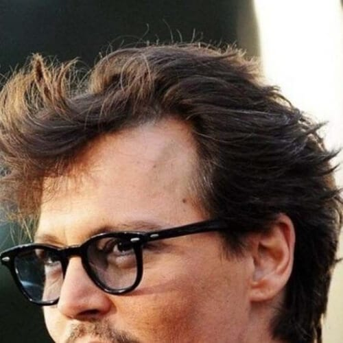johnny depp mens hairstyles for thin hair