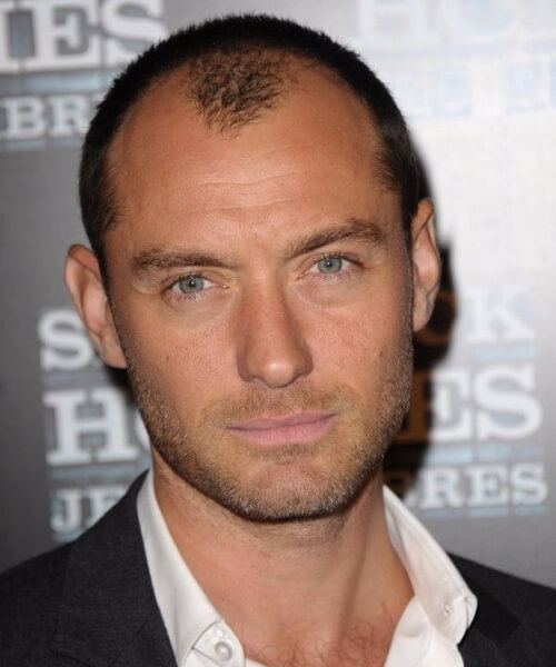 jude law mens hairstyles for thin hair