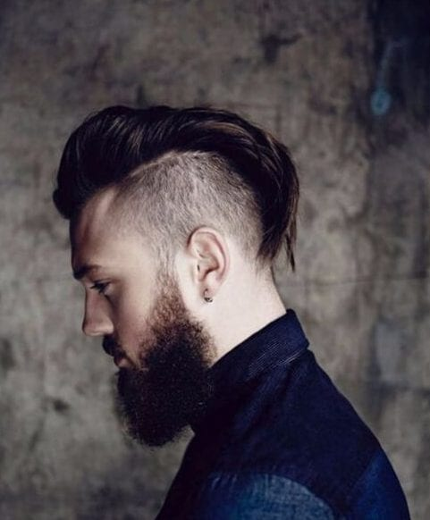 limp mohawk shaved hairstyles for men
