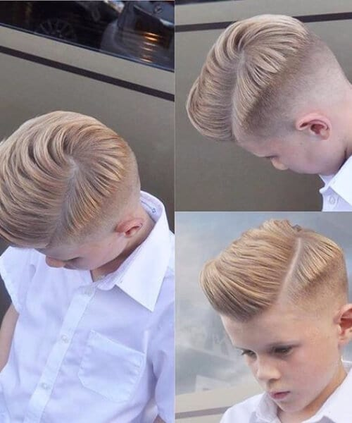 little boy blonde shaved hairstyles for men