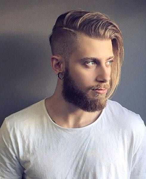 long hair undercut shaved hairstyles for men