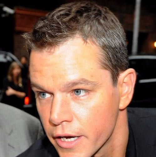 matt damon mens hairstyles for thin hair
