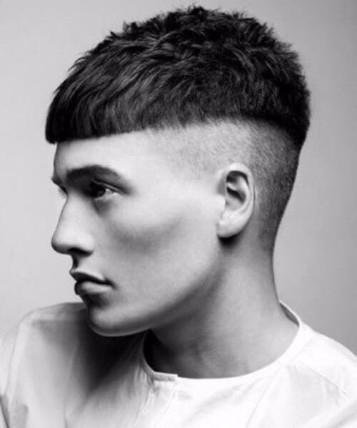 modern bowl shaved hairstyles for men