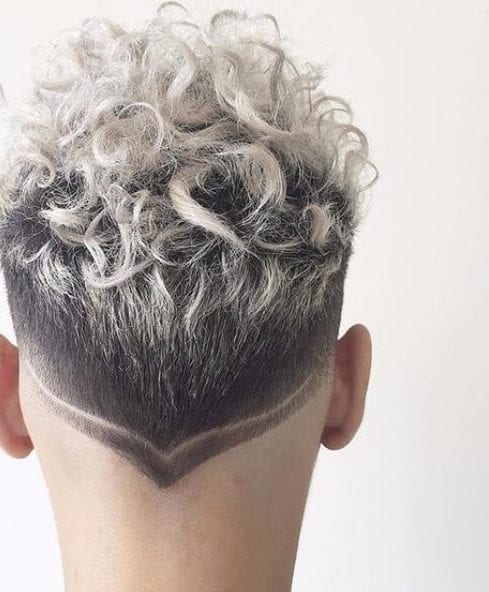 platinum hair design short curly hairstyles for men