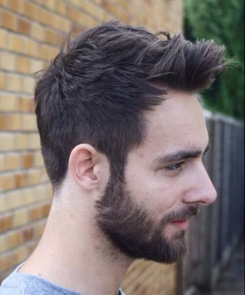 pulled to the front and unicorn quiff hairstyles for men with receding hairlines