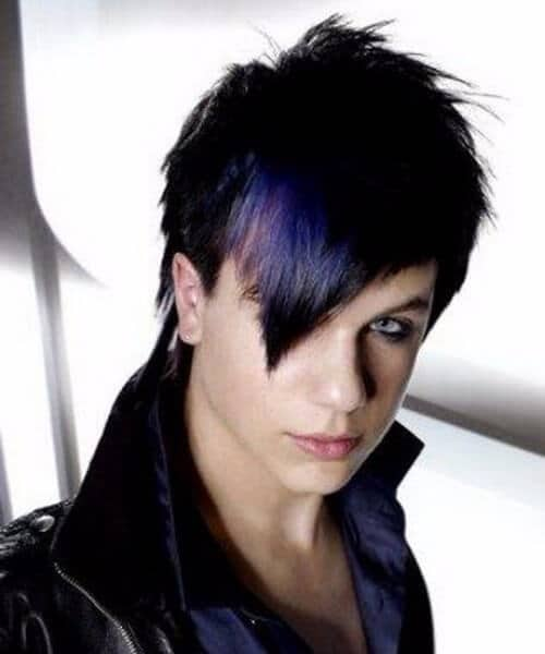 purple v bangs emo hairstyles for guys
