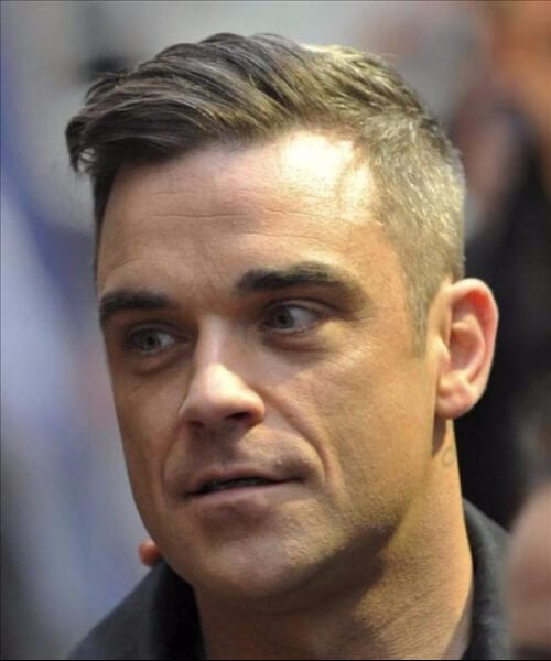 robbie williams shaved hairstyles for men