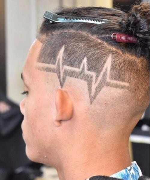 shaved hairstyles for men hair tattoo