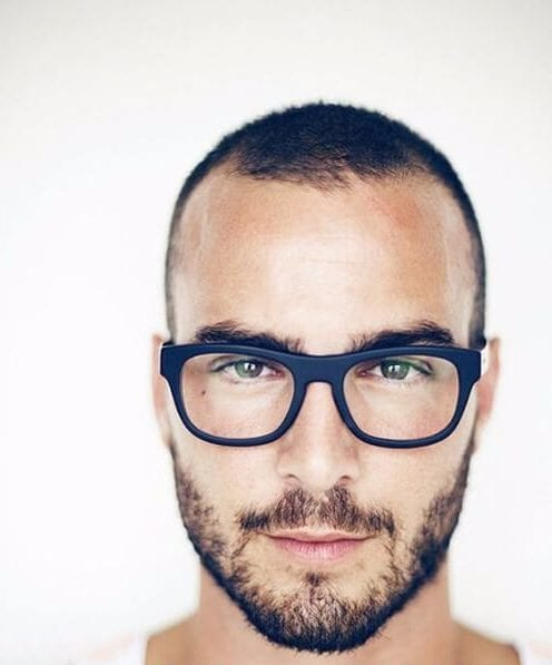 shaved hairstyles for men receding hairline
