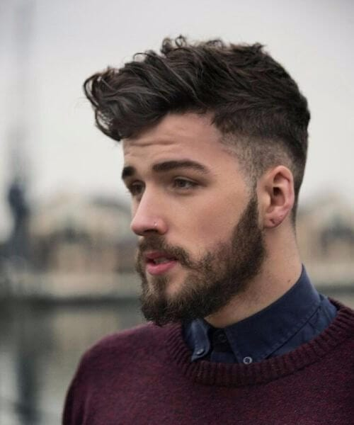 shaved hairstyles for men with beard