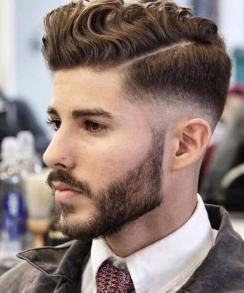short curly hairstyles for men hard part