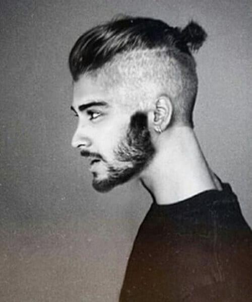 zayn malik man bun hairstyle