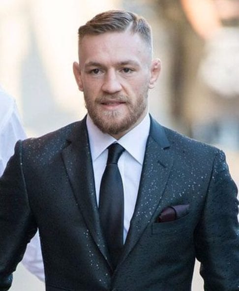 Conor McGregor side part hairstyles