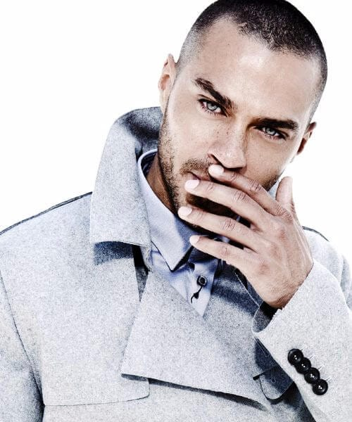 Jesse Williams widows peak hairstyles