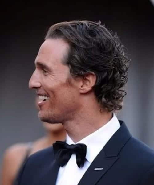 Matthew McConaughey hairstyles for men with wavy hair
