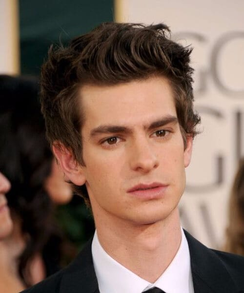 andrew garfield hairstyles for men with wavy hair