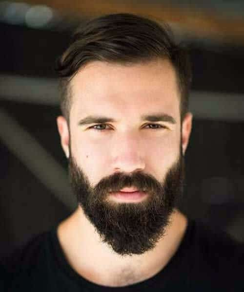 beard side part hairstyles