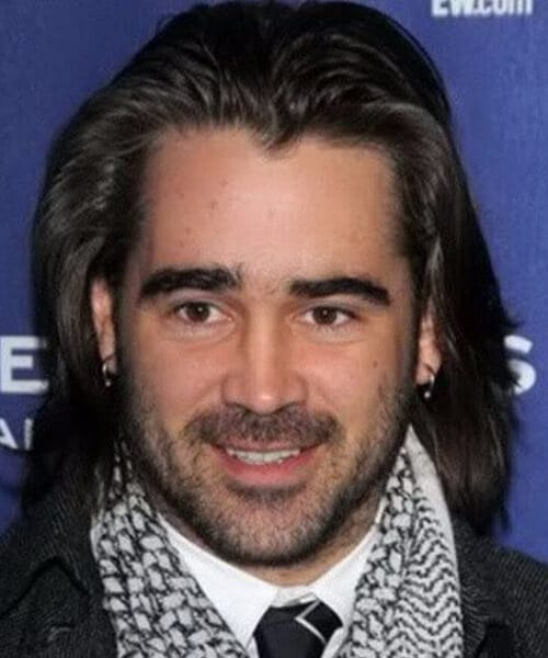 colin farrell widows peak hairstyles