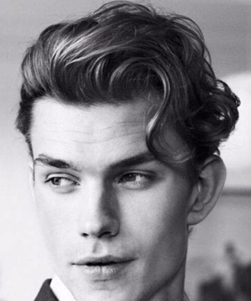 dapper hairstyles for men with wavy hair