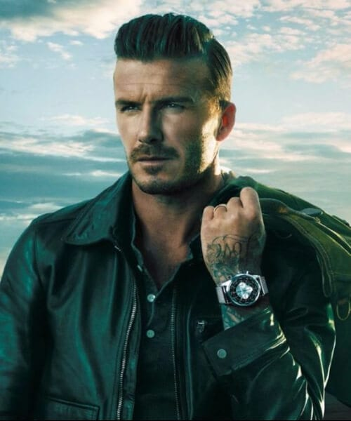 david beckham side part hairstyles