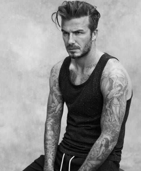 david beckham widows peak hairstyles