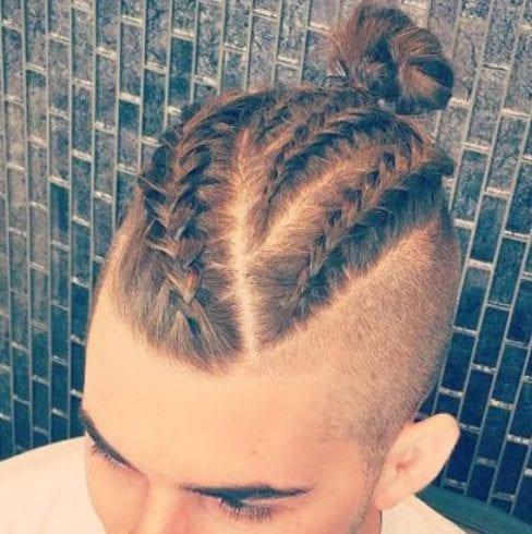 diagonal viking hairstyles