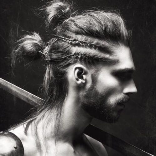 double man bun viking hairstyles
