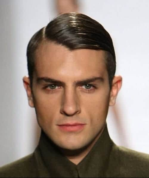 gelled side part hairstyles