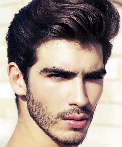 high pompadour side part hairstyles