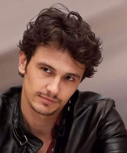 james franco hairstyles for men with wavy hair