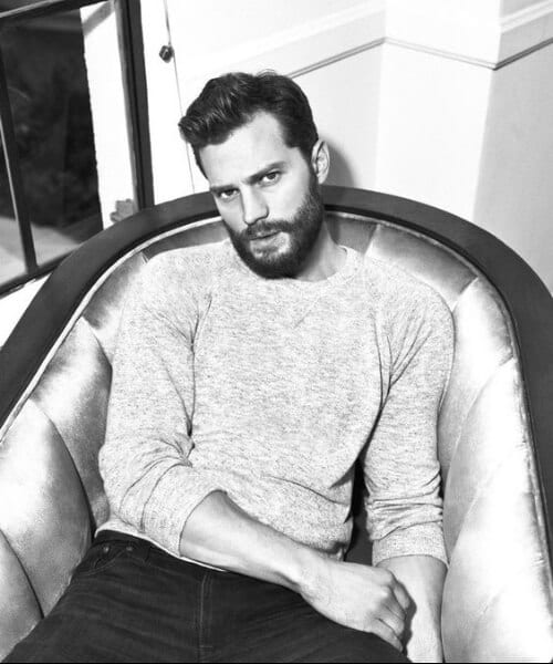jamie dornan widows peak hairstyles