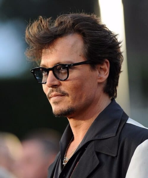 johnny depp widows peak hairstyles