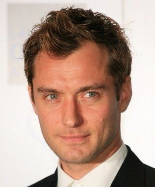 jude law widows peak hairstyles