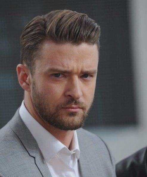 justin timberlake side part hairstyles