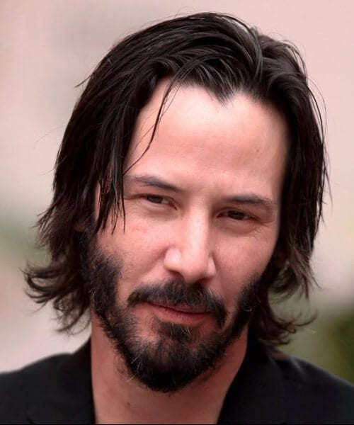 keanu reeves widows peak hairstyles