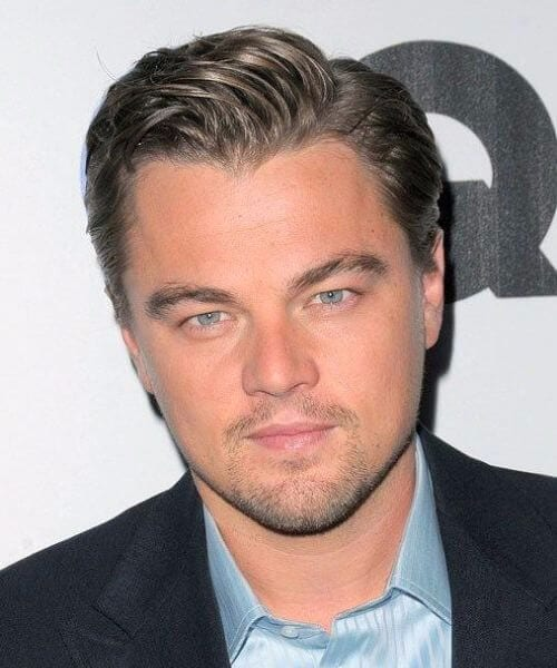 leonardo dicaprio widows peak hairstyles