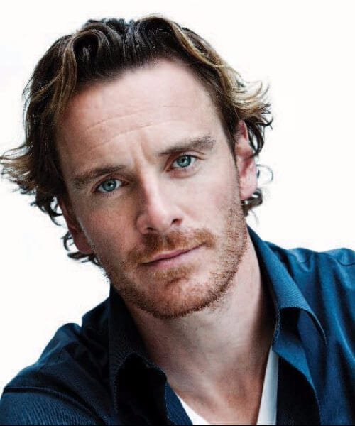 michael fassbender hairstyles for men with wavy hair
