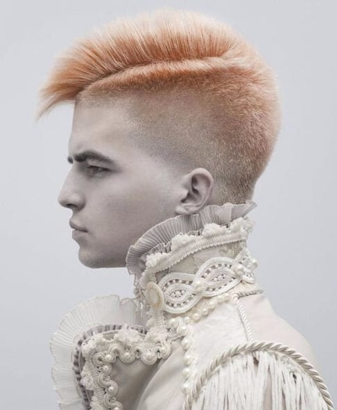 modern punk side part hairstyles