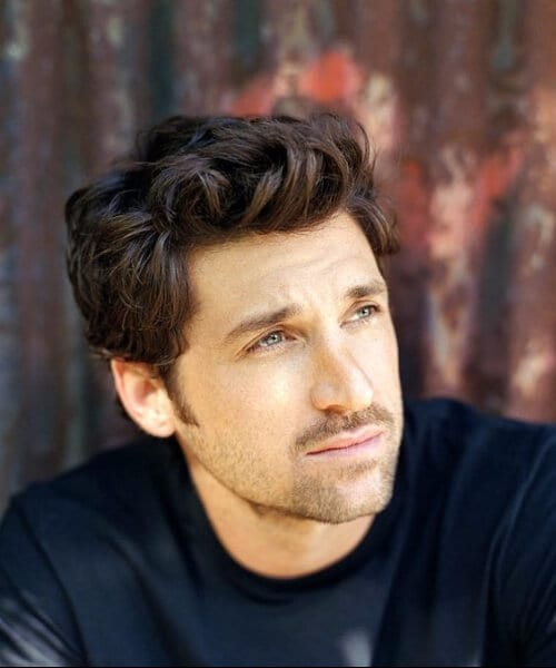 patrick dempsey hairstyles for men with wavy hair