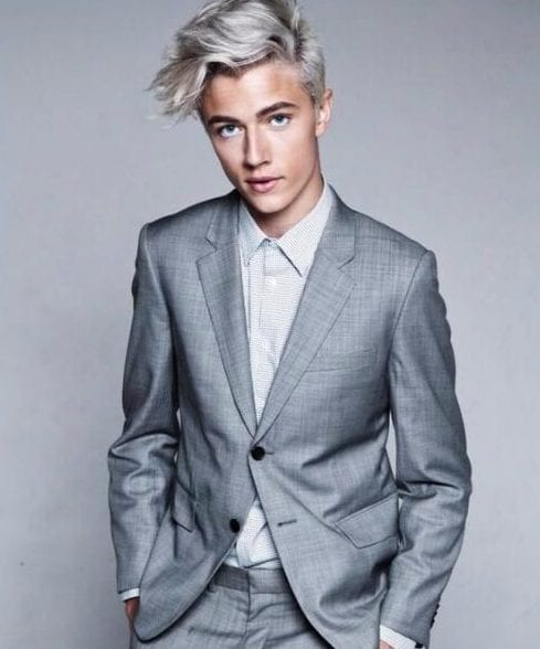 platinum hairstyles for men with wavy hair