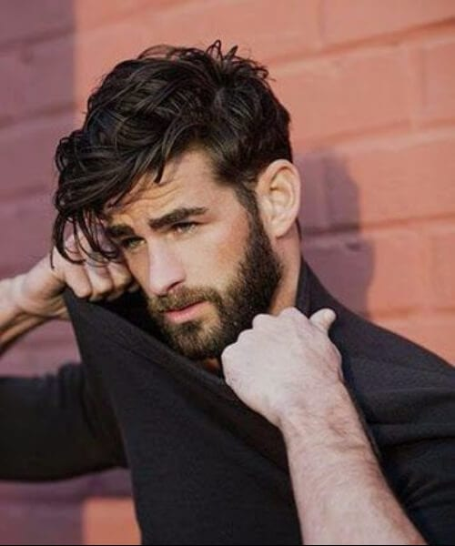 raven hairstyles for men with wavy hair