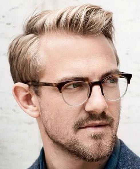 receding hairline side part hairstyles