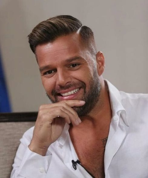 ricky martin side part hairstyles