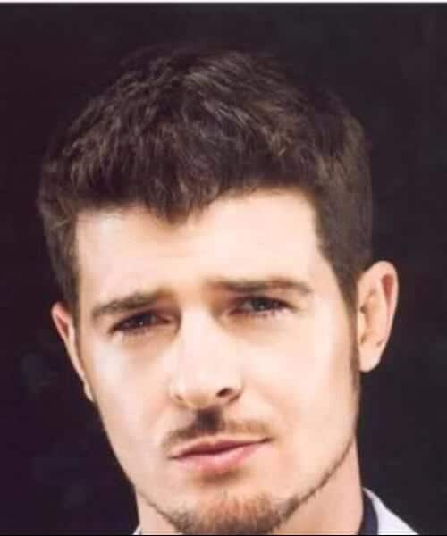 robin thicke widoes peak hairstyles